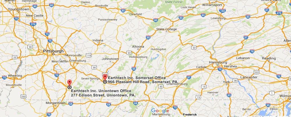 Earthtech Contact Us Map